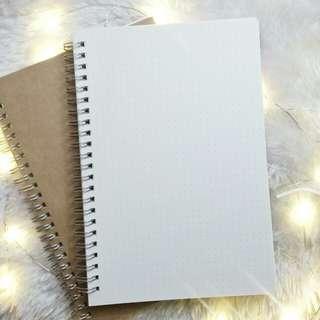 A5 | Muji Inspired Kraft Dotted Notebook