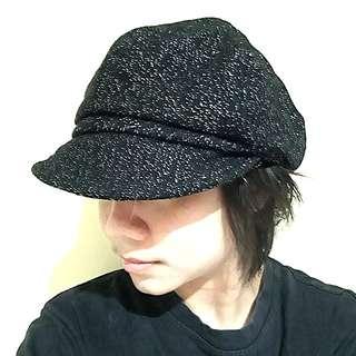 Black Glittery Gatsby Hat