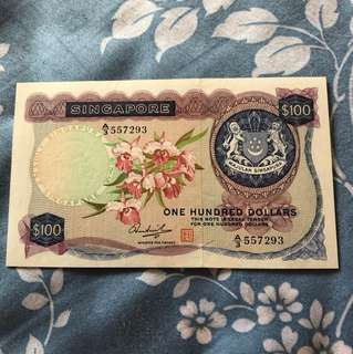 Orchid $100 Note