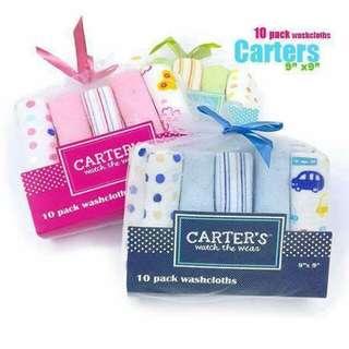 Carters 10PC seT Washcloth