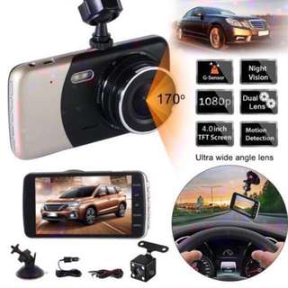 A21 4 INCH FULL HD 1080P DUAL LENS CAR CAMERA VIDEO RECORDER DASH CAM MONITORING IR NIGHT VISION. Car Radio And Audio System
