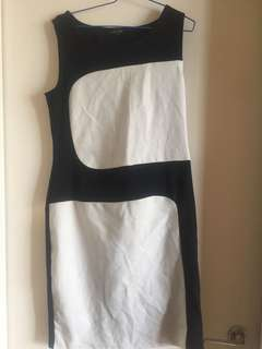 Black & white Panel dress