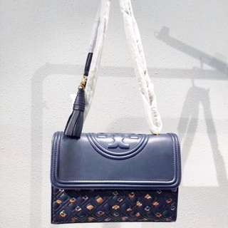 Tory Burch Fleming convertible shiny leather 代購Tory皮袋