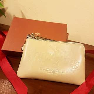 Coach Wristlet with Signature Carriage Embossment