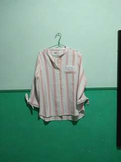 LOCAL BRAND - dusty pink stripes top