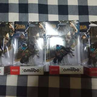 The legend of Zelda: Breathe of the Wild Link rider amiibo