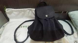 9成9新 Longchamp 羊皮背包 (藍色)