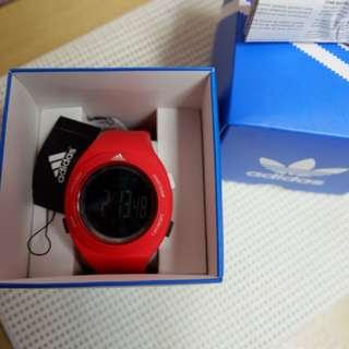 Jam adidas merah original