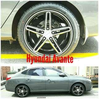 Tyre 215/45 R17 Membat on Hyundai Avante 🐕 Super Offer 🙋♂️