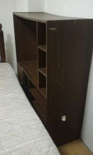 TV rack with compartment