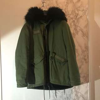 Zara winter army jacket