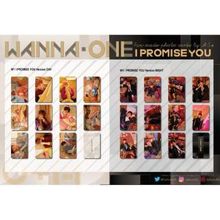 WANNA ONE I PROMISE YOU UNOFFICIAL PHOTO CARDS