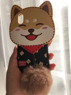 可愛狗狗電話套iPhone x