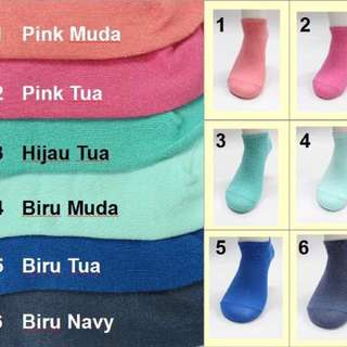 KaosKaki warna pastel ladies