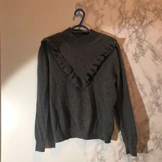 H&M grey cashmere sweater