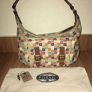 Fossil Tate Hobo Natural Floral