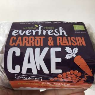 純素有機提子乾甘筍蛋糕 Vegan Organic Carrot & Raisin Cake