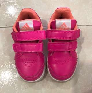 Adidas pink toddler shoes