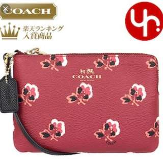 100% new Coach Corner Zip Wristlet 日系散子包