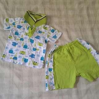 preloved set baju baby 3-6 month condition 8/10