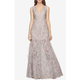 BCBG Aislynn Lace Print Gown Size 12
