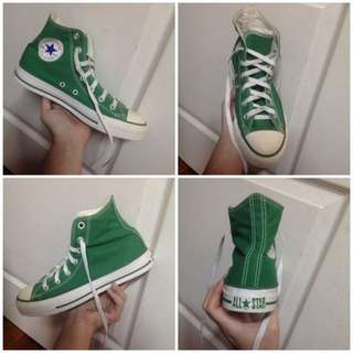 Authentic Converse Green High Cut Sneakers Shoes