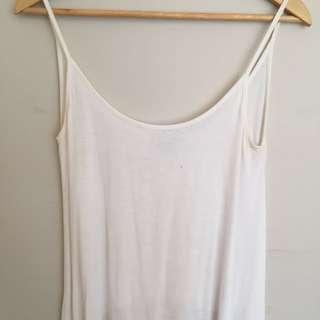 Showpo White Singlet With Drape Detail