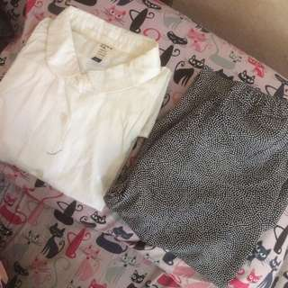 Kemeja + rok (take all 30rb)