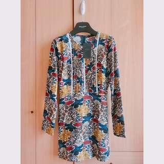 Zara beautiful floral pattern jumpsuit top short dress skirt pants asos bcbg cos club monaco mango 特別碎花連身短裙褲 襯衫