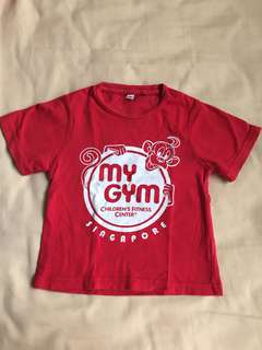 My gym - red shirt S size