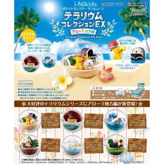 🇯🇵日本預購 - 原裝日版 RE-MENT - Pokemon Terrarium Collection EX Alola 寵物小精靈寶可夢玻璃精靈球收藏EX - 阿羅拉地區篇 (全6種)