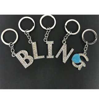 Alphabet Bling Keychain