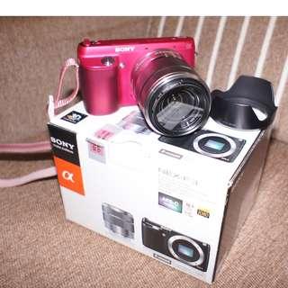 sony nex f3  camera pink