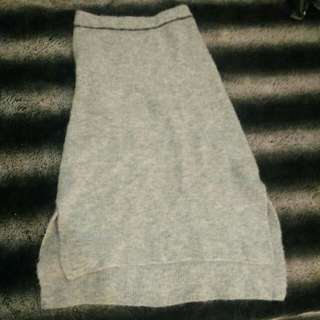 Import grey Wool skirt (from japan)