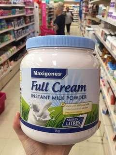 澳洲藍胖子奶粉🌸 真的好大的一瓶,傳説中的藍胖子。是澳洲奶粉美可卓藍胖子,全脂高鈣奶粉。每瓶 1kg,罐裝更好儲😊澳洲優質奶業A2旗下的澳洲奶粉,繼德運之後又一款鮮奶味極強的奶粉!💁每一杯都保留了新鮮牛奶中豐富的營養,適合三歲以上兒童,成人,孕婦,老年人👧👩👴