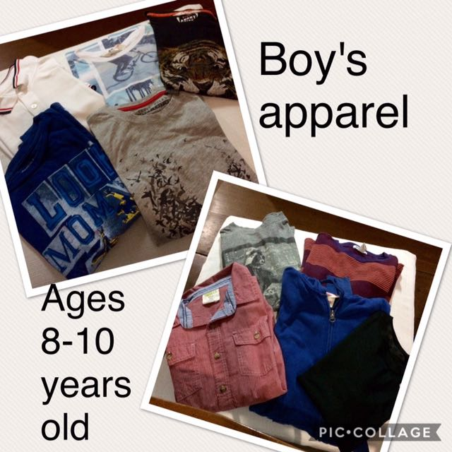 10 Pcs. Boys Shirts, Long Sleeves & Hoody