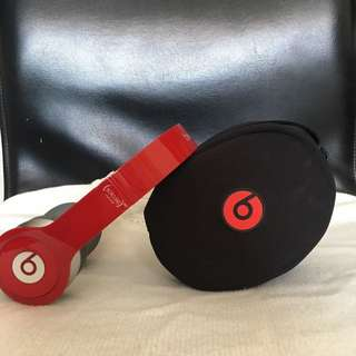 BEATS BY DR. DRE SOLO HD SPECIAL EDITION RED Wired On-ear Headphone頭戴式有線耳機