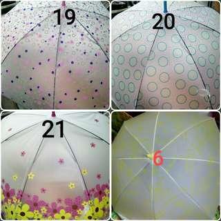 Payung unik transparan