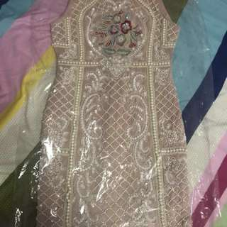 A Star Is Born Dress with Intricate Handmade Beading Work