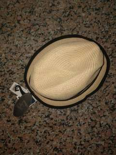 RETRO 7 NATURAL COLOR WITH BLACK STRIPES SUMMER HAT