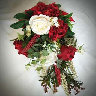 Wedding Flowers, Cascading Bouquet