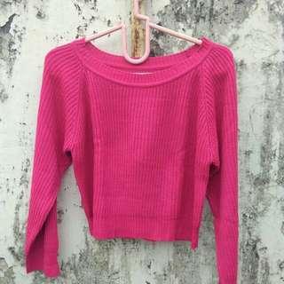 Sweater crop pink