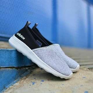 SEPATU ADIDAS CLOADFOAM SLIP-ON SOFT GREY BLACK