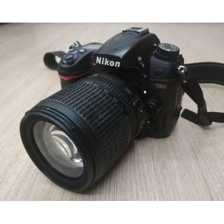 Nikon D7000 + 18-105mm lens + Filters + Accesories