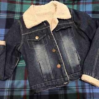 Women's Denim Fleece Jacket
