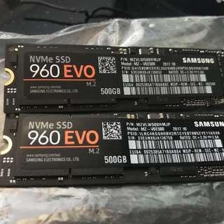 Samsung 960 EVO NVMe SSD 500GB