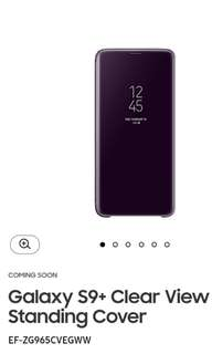 Samsung Galaxy S9+ Clear View Standing Cover in Purple