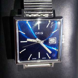 Vintages Oris Blue Dial Wrist Watch