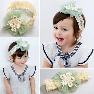 Baby Girl Green Chiffon Ribbon Headband