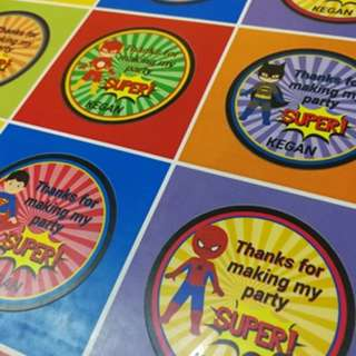 Customized stickers and labels
